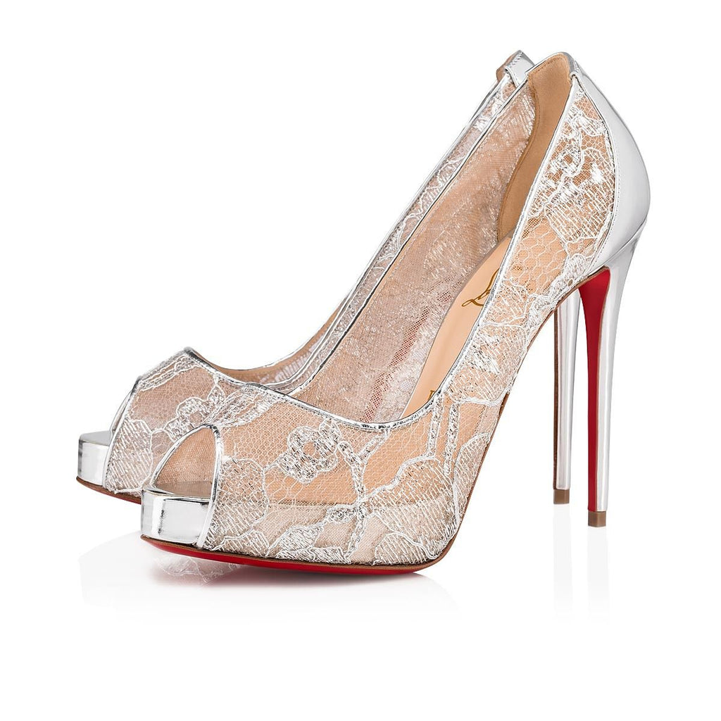 CHRISTIAN LOUBOUTIN VERY LACE 120MM SIZE 40 SANDALS | LuxurySnob authentic Louboutin shoes second hand, second hand Christian Louboutin, pre owned red bottom shoes