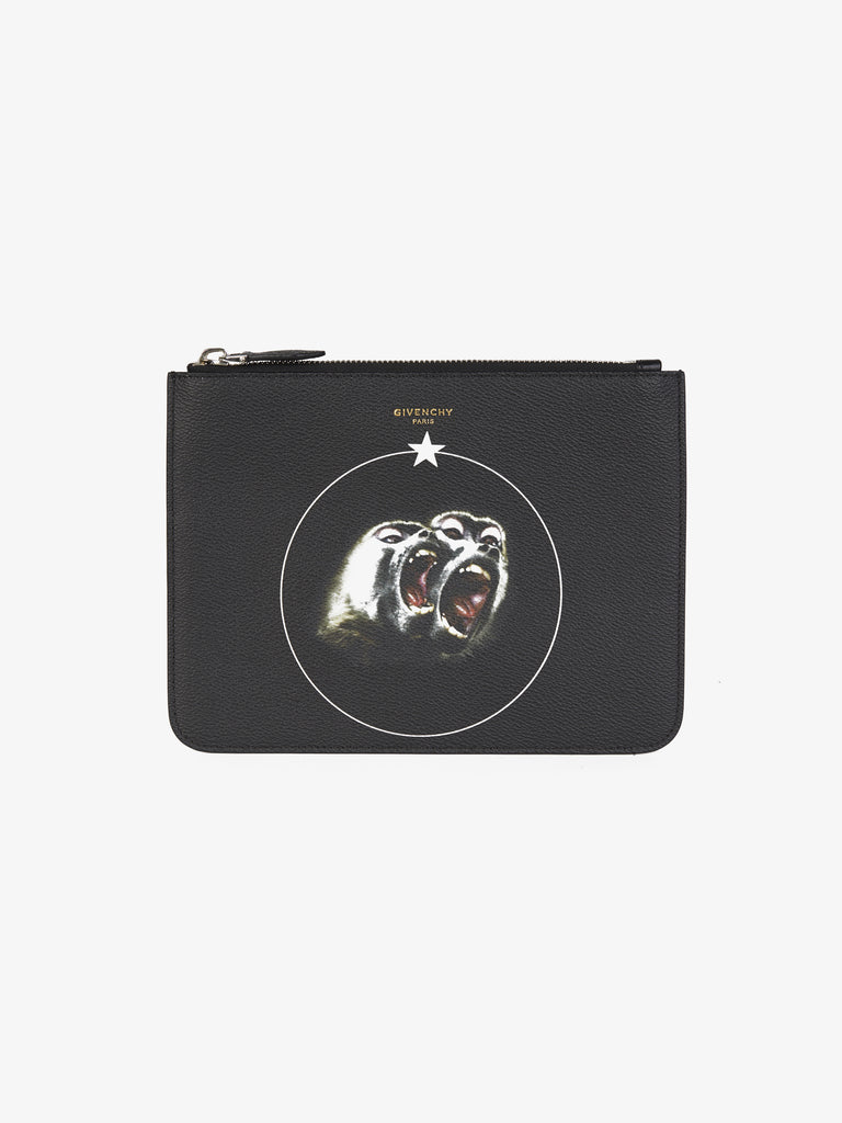 GIVENCHY MONKEY BROTHERS POUCH ACCESSORIES | LuxurySnob: pre owned luxury handbags, authentic designer goods second hand, second hand luxury bags, gently used designer shoes