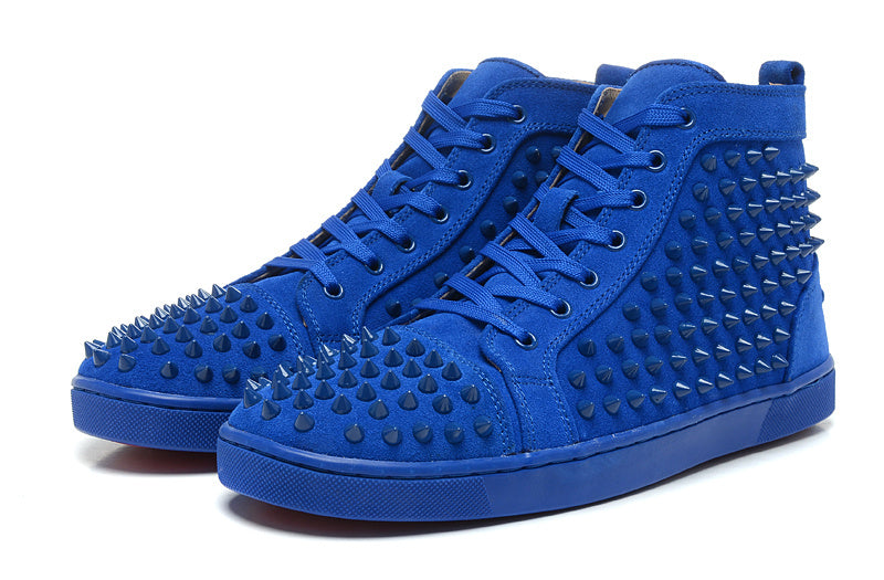 CHRISTIAN LOUBOUTIN LOUIS SPIKES HIGH TOP SNEAKER MEN SIZE 43 SNEAKERS | LuxurySnob: pre owned luxury handbags, authentic designer goods second hand, second hand luxury bags, gently used designer shoes
