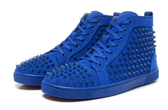 CHRISTIAN LOUBOUTIN  LOUIS SPIKES HIGH TOP SNEAKER MEN SIZE 43