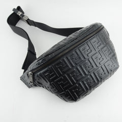 FENDI FF EMBOSSED LEATHER BELT BAG/ FANNY PACK