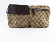 GUCCI GG CANVAS WASIT BAG