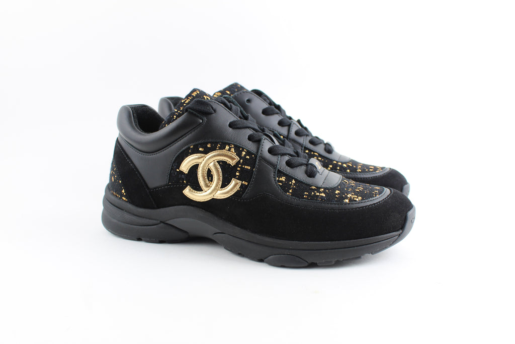 CHANEL CROSS TRAINER SNEAKERS SNEAKERS | LuxurySnob: pre owned luxury handbags, authentic designer goods second hand, second hand luxury bags, gently used designer shoes
