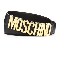 MOSCHINO BELT IN LEATHER WITH LOGO SIZE 38 ACCESSORIES | LuxurySnob: pre owned luxury handbags, authentic designer goods second hand, second hand luxury bags, gently used designer shoes
