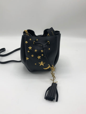 SAINT LAURENT MONOGRAM SMALL STAR STUDDED BUCKET BAG
