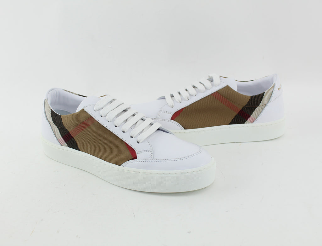 BURBERRY SALMOND LOW TOP SNEAKER SIZE 36 SNEAKERS | LuxurySnob: pre owned luxury handbags, authentic designer goods second hand, second hand luxury bags, gently used designer shoes