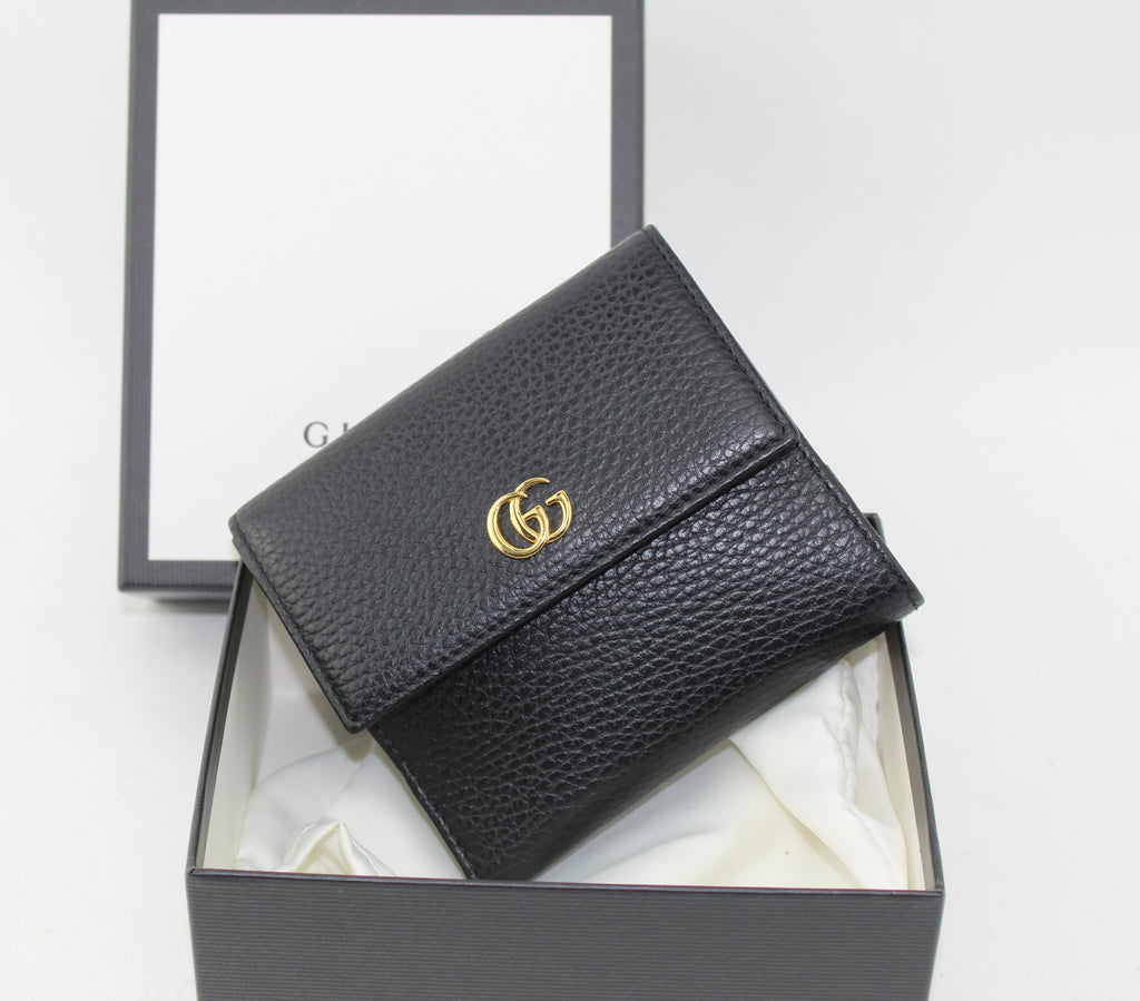 GUCCI MARMONT LEATHER WALLET WALLET | LuxurySnob: pre owned luxury handbags, authentic designer goods second hand, second hand luxury bags, gently used designer shoes