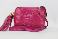 GUCCI SOHO DISCO BAG CROSSBODY BAGS | LuxurySnob genuine Gucci second hand, second hand Gucci handbags, pre owned Gucci shoes