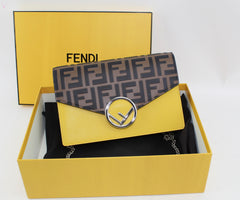 FENDI WALLET ON CHAIN CROSSBODY BAGS | LuxurySnob: pre owned luxury handbags, authentic designer goods second hand, second hand luxury bags, gently used designer shoes