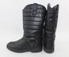 CHANEL DALLAS MOTO STAR BOOTS SIZE 40 - LuxurySnob