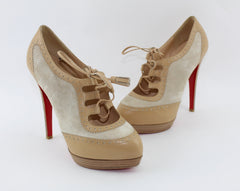 CHRISTIAN LOUBOUTIN MAMIMO 140MM SIZE 37 SHOES | LuxurySnob authentic Louboutin shoes second hand, second hand Christian Louboutin, pre owned red bottom shoes