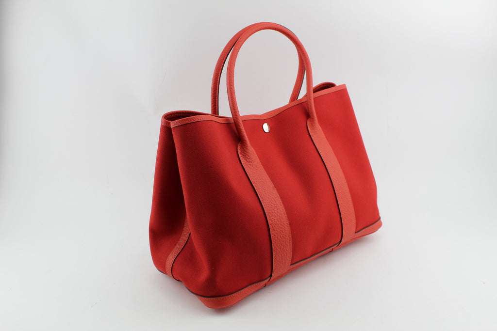 HERMES GARDEN PARTY TOTE HANDBAGS | LuxurySnob: pre owned luxury handbags, authentic designer goods second hand, second hand luxury bags, gently used designer shoes
