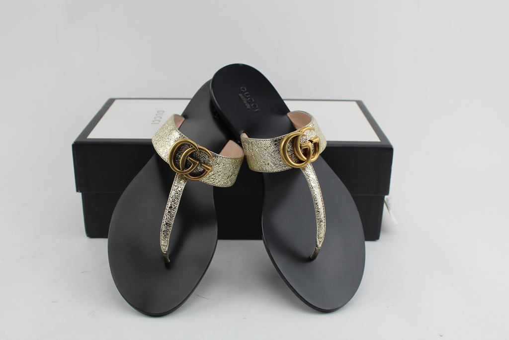 GUCCI LEATHER THONG SANDAL - LuxurySnob