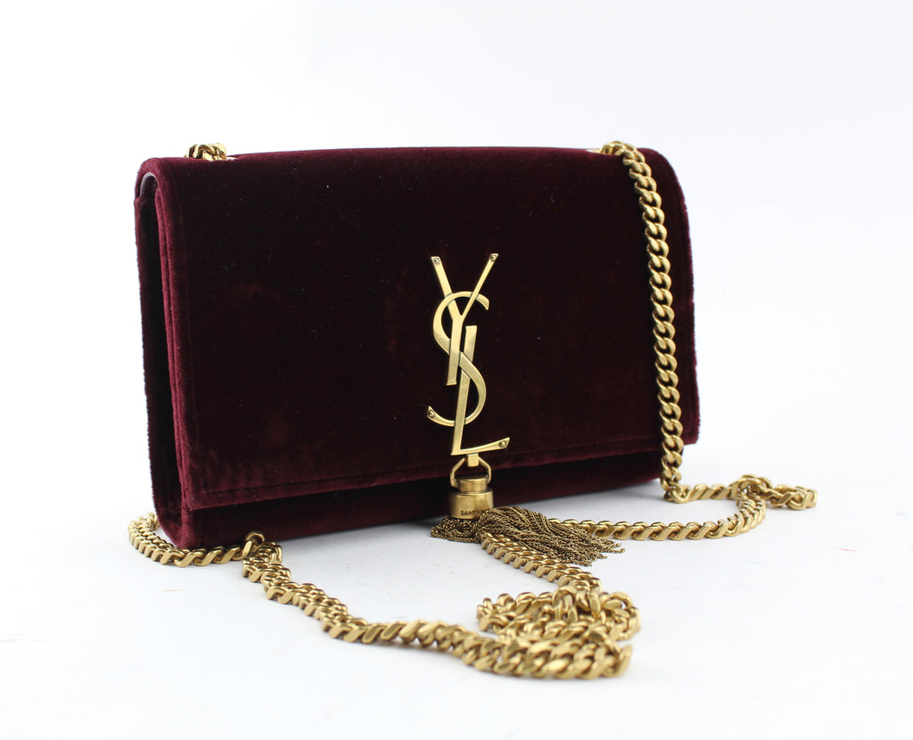 SAINT LAURENT KATE TASSEL LOGO BAG CROSSBODY BAGS | LuxurySnob: pre owned luxury handbags, authentic designer goods second hand, second hand luxury bags, gently used designer shoes