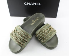 CHANEL SLIDES SIZE 39