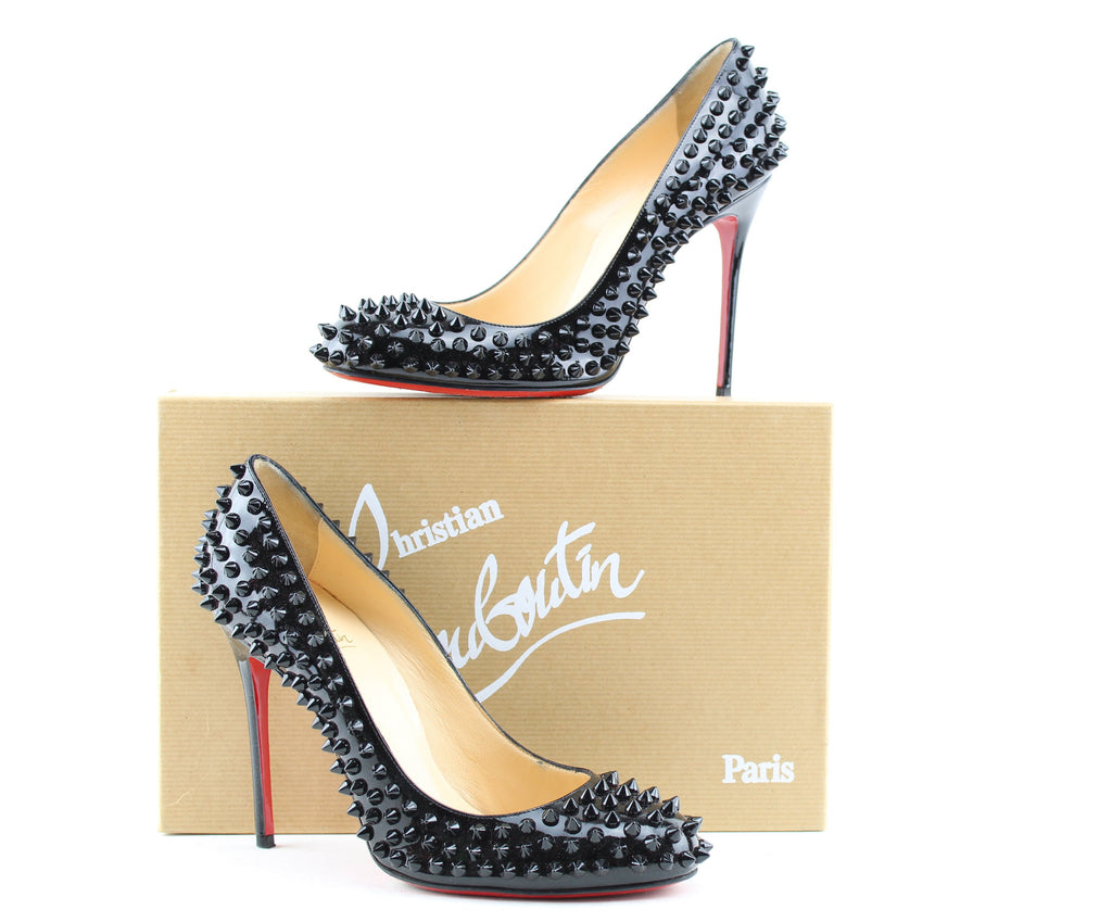new concept 9d109 ff3e4 CHRISTIAN LOUBOUTIN FIFI SPIKES 100 mm size 38.5