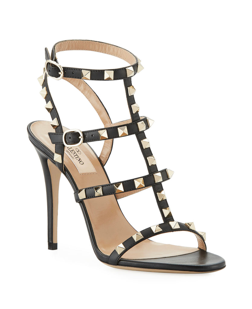 VALENTINO ROCKSTUD 105MM CAGED LEATHER SANDALS SIZE 41 SANDALS | LuxurySnob genunie pre owned Valentino, pre owned Valentino heels, second hand Valentino heels