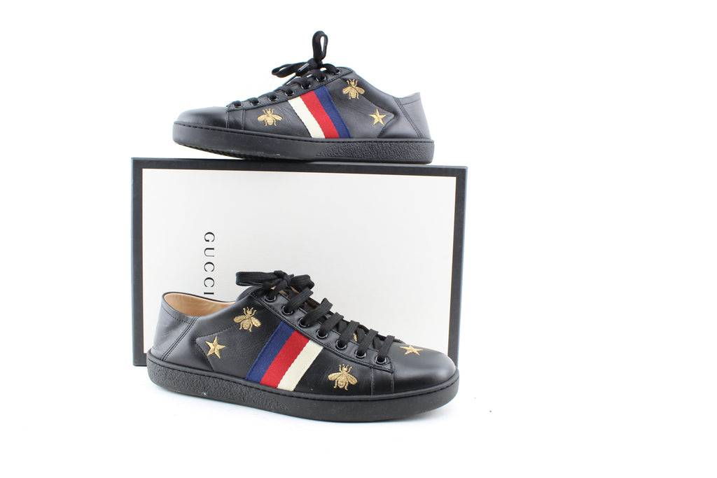 GUCCI SNEAKERS WOMEN SIZE 39 SNEAKERS | LuxurySnob genuine Gucci second hand, second hand Gucci handbags, pre owned Gucci shoes