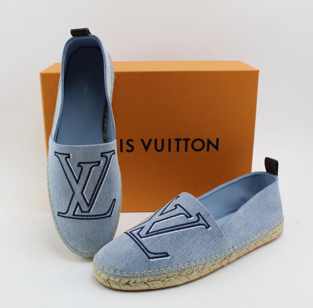 LOUIS VUITTON SEASHORE ESPADRILLE SHOES | LuxurySnob: pre owned luxury handbags, authentic designer goods second hand, second hand luxury bags, gently used designer shoes