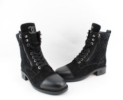 CHANEL LACE UP BOOTS SIZE 39