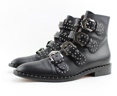 GIVENCHY STUDDED LEATHER ANKLE BOOT SIZE 39