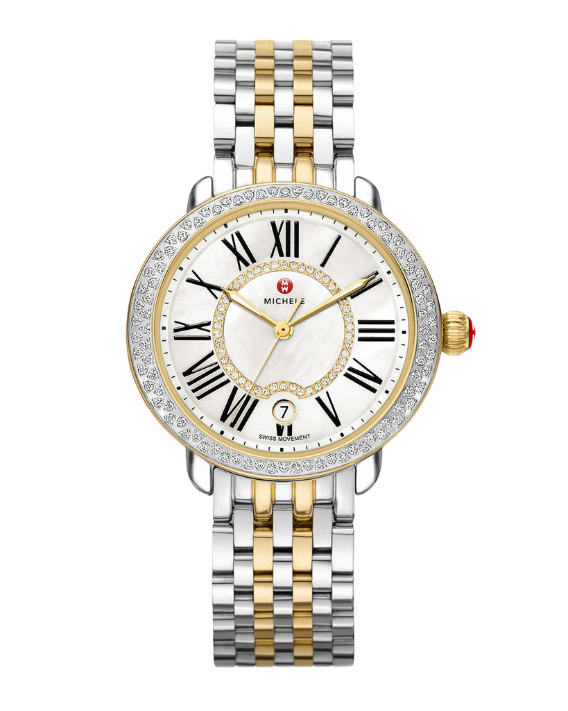 MICHELE SEREIN MID TWO-TONE DIAMOND WATCH - LuxurySnob