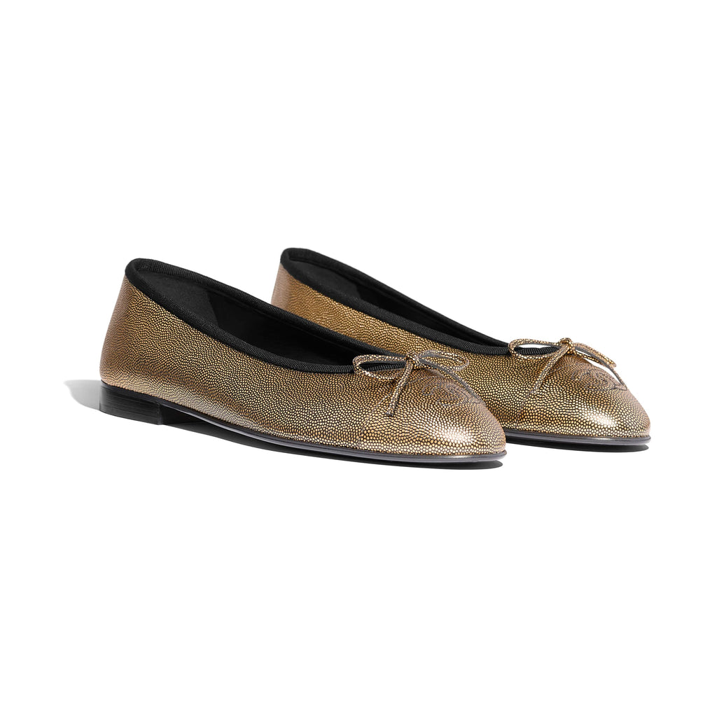 CHANEL BALLERINA FLATS SIZE 39 FLATS | LuxurySnob: pre owned luxury handbags, authentic designer goods second hand, second hand luxury bags, gently used designer shoes