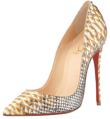 CHRISTIAN LOUBOUTIN SO KATE 120 PYTHON TROPICANA