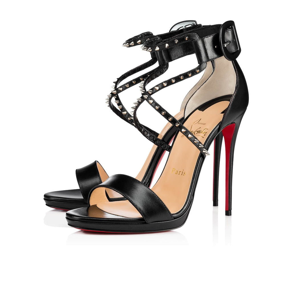 CHRISTIAN LOUBOUTIN CHOCA LUX 120 SIZE 39.5 SANDALS | LuxurySnob: pre owned luxury handbags, authentic designer goods second hand, second hand luxury bags, gently used designer shoes