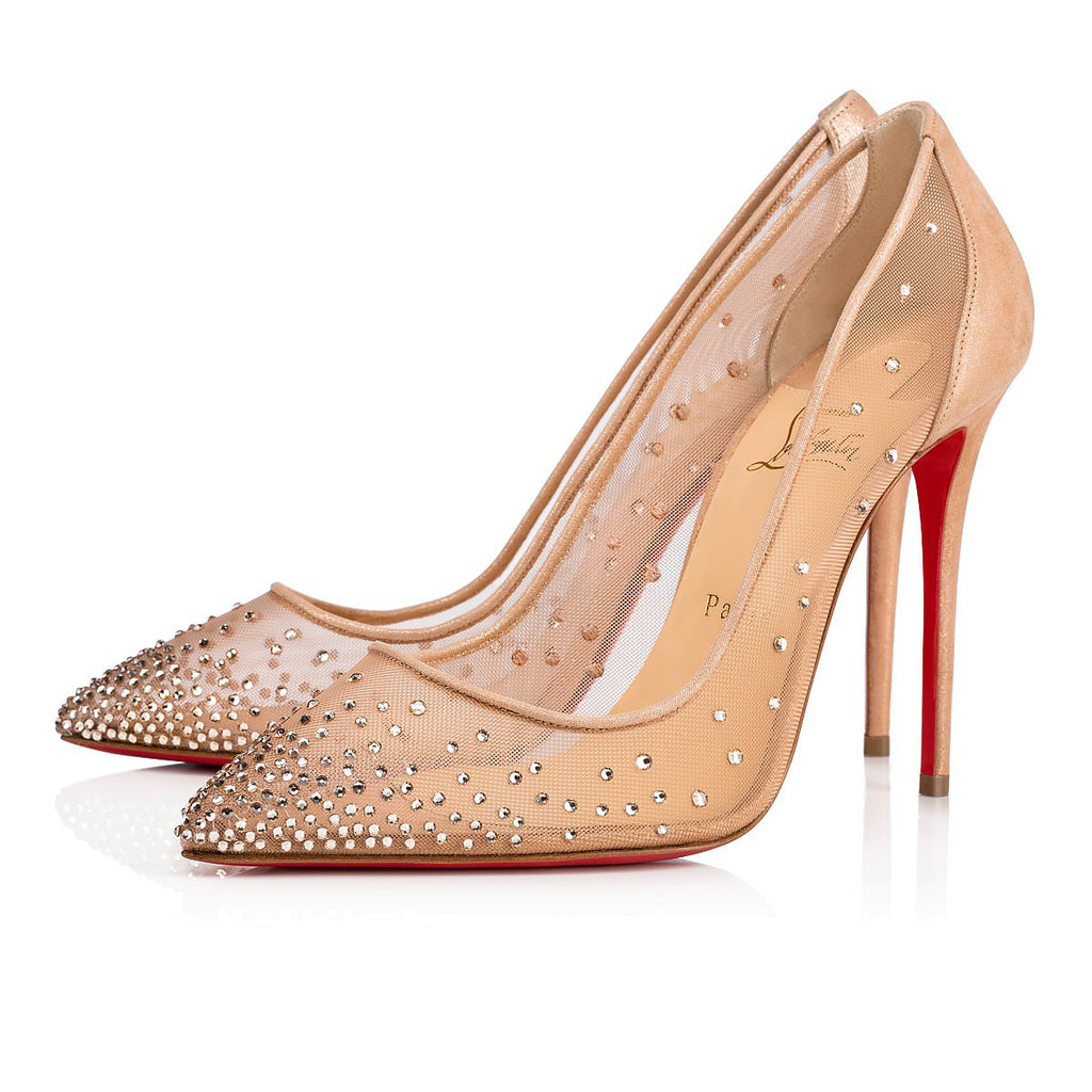 CHRISTIAN LOUBOUTIN FOLLIES STRASS 100mm PUMPS | LuxurySnob: pre owned luxury handbags, authentic designer goods second hand, second hand luxury bags, gently used designer shoes