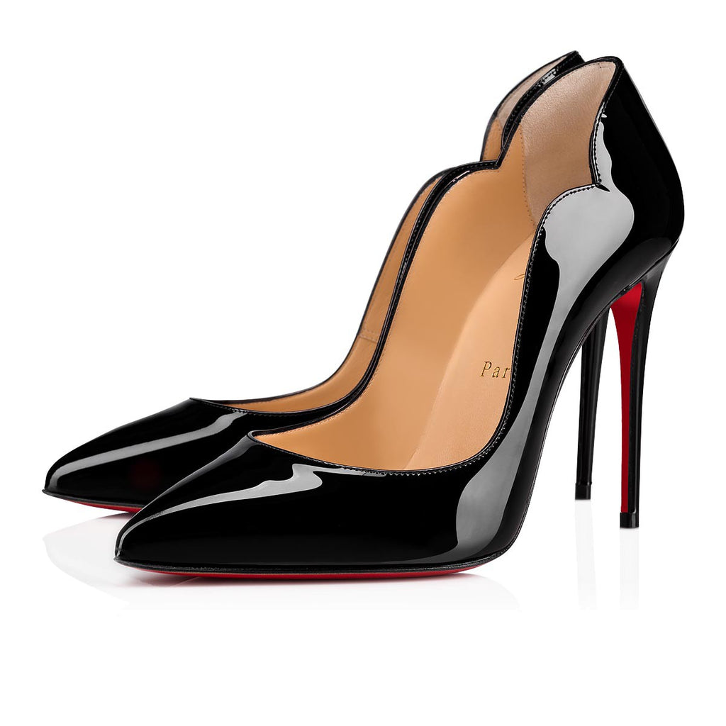 CHRISTIAN LOUBOUTIN HOT CHIC 100mm SIZE 38.5 PUMPS | LuxurySnob: pre owned luxury handbags, authentic designer goods second hand, second hand luxury bags, gently used designer shoes