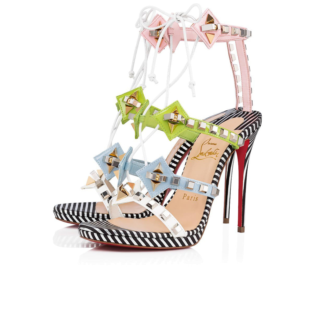 CHRISTIAN LOUBOUTIN MULTIPLATICOOL 120MM SANDALS | LuxurySnob: pre owned luxury handbags, authentic designer goods second hand, second hand luxury bags, gently used designer shoes