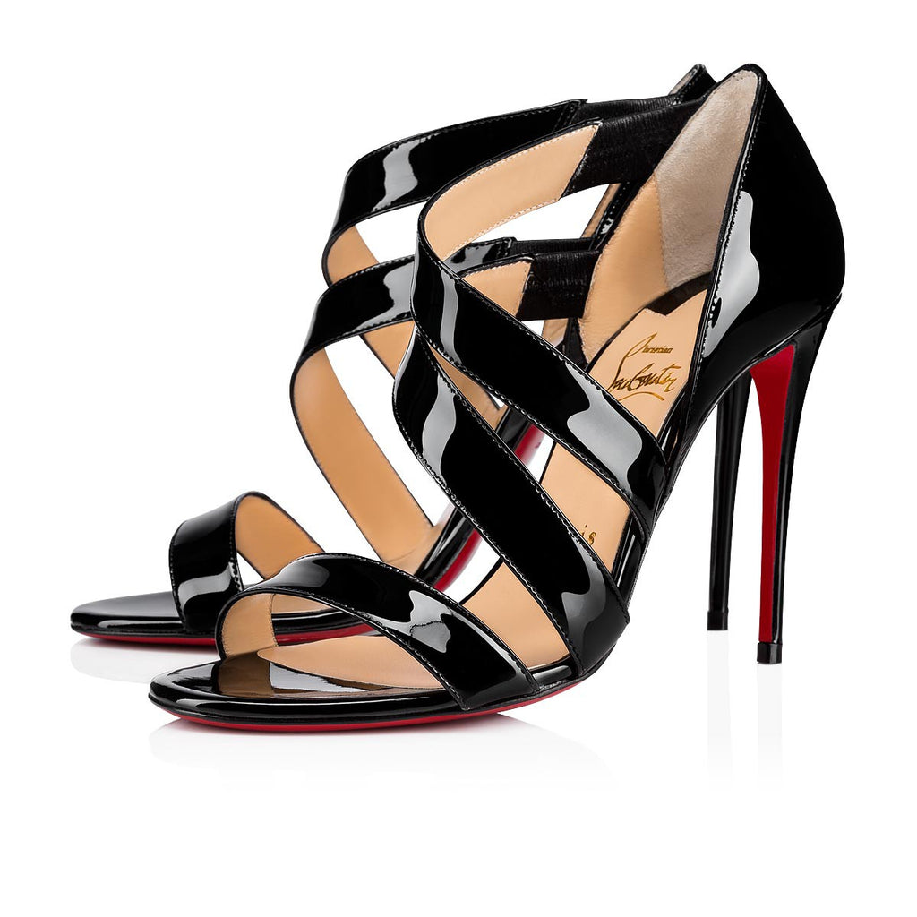 CHRISTIAN LOUBOUTIN BLACK WORLD COPINE 100 SIZE 37 - LuxurySnob