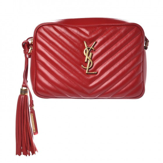 YSL LOU LOU CAMERA BAG RED