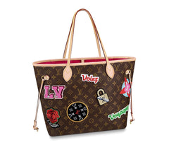 LOUIS VUITTON LIMITED EDITION PATCHES NEVERFULL MM