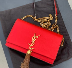 SAINT LAURENT SMALL KATE CROSSBODY TASSEL BAG