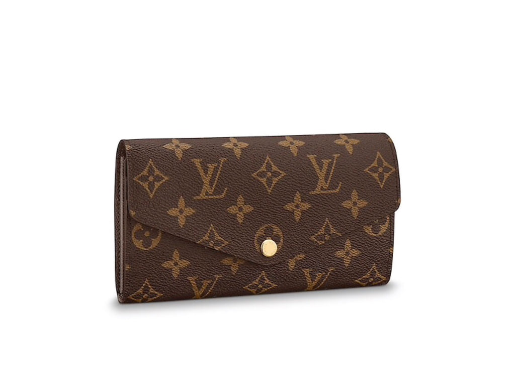 LOUIS VUITTON SARAH WALLET ACCESSORIES | LuxurySnob: pre owned luxury handbags, authentic designer goods second hand, second hand luxury bags, gently used designer shoes