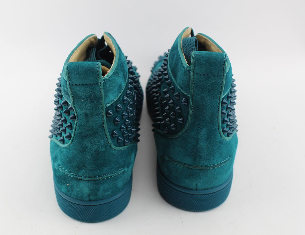 the latest 8f711 47cab CHRISTIAN LOUBOUTIN LOUIS SPIKES HIGH TOP SNEAKER size 45