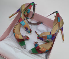 ALEXANDRE BIRMAN LOLITA METALLIC SANDALS - LuxurySnob