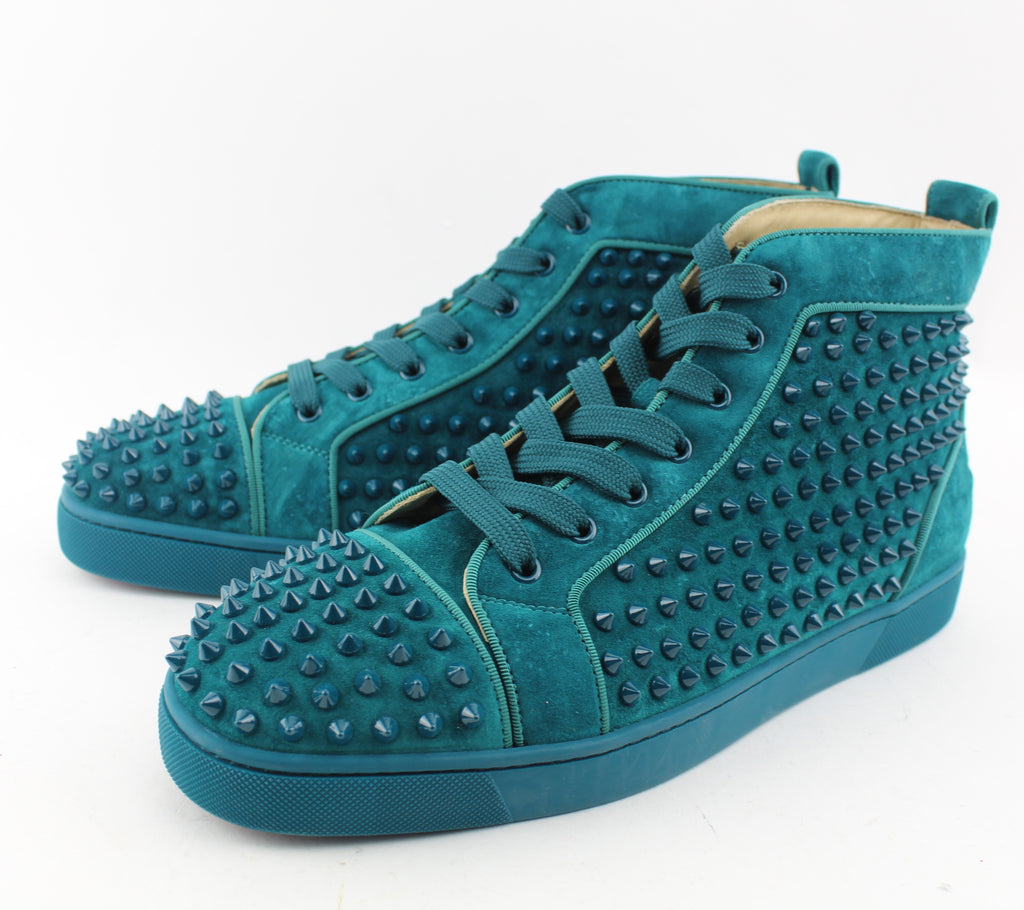 the latest fde3a 03269 CHRISTIAN LOUBOUTIN LOUIS SPIKES HIGH TOP SNEAKER size 45
