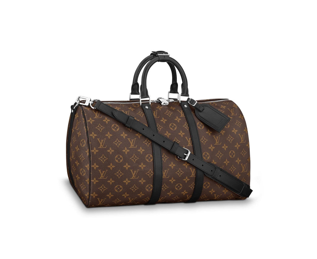 LOUIS VUITTON KEEPALL BANDOULIERE 45 LUGGAGE | LuxurySnob: pre owned luxury handbags, authentic designer goods second hand, second hand luxury bags, gently used designer shoes