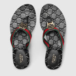 Gucci Women's Gg Web Thong Sandals - LuxurySnob