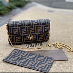 FENDI CHAIN WALLET WITH POUCHES