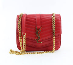 YVES SAINT LAURENT SULPICE SMALL LEATHER BAG.