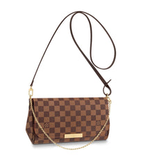 LOUIS VUITTON FAVORITE MM DAMIER CROSSBODY BAGS | LuxurySnob authentic Louis Vuitton resale, buy and sell second hand Louis Vuitton, gently used Louis Vuitton