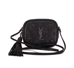 SAINT LAURENT MONOGRAM BLACK STAR EMBOSSED BLOGGER CROSSBODY