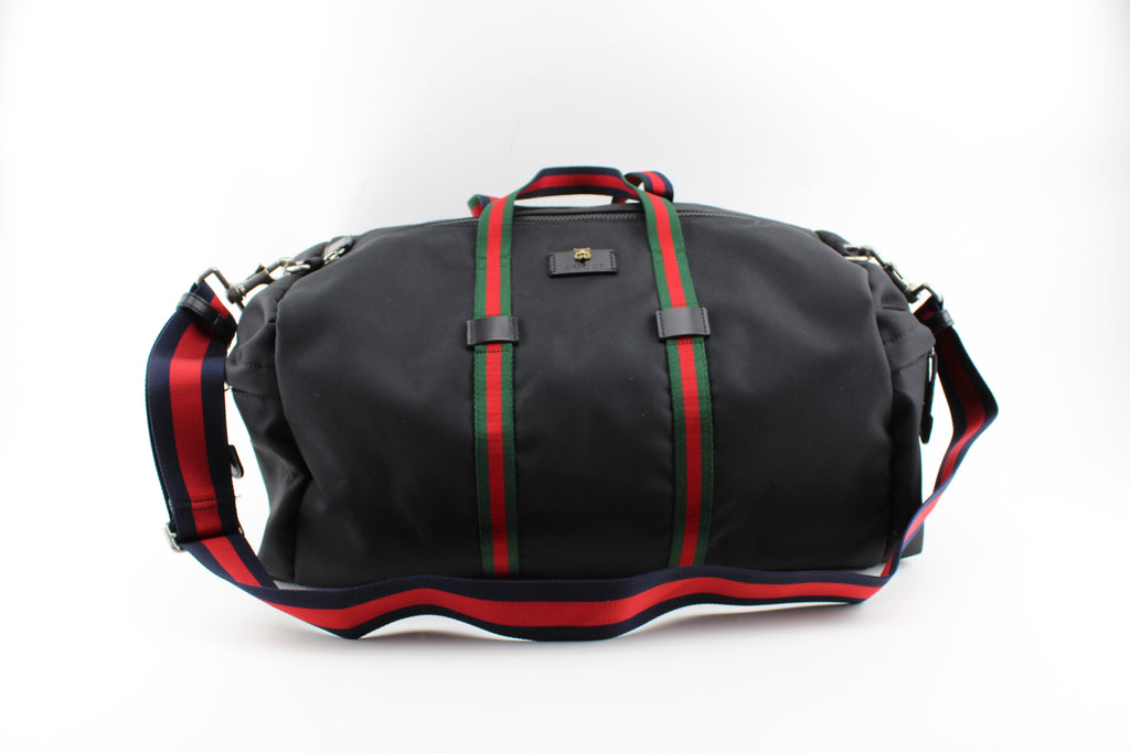 Technical canvas duffle