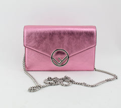 FENDI METALLIC CHAIN BAG CROSSBODY BAGS | LuxurySnob: pre owned luxury handbags, authentic designer goods second hand, second hand luxury bags, gently used designer shoes