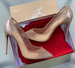 CHRISTIAN LOUBOUTIN FOLLIES STRASS SIZE 42