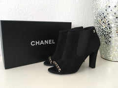 CHANEL SUEDE BOOTIES SIZE 37